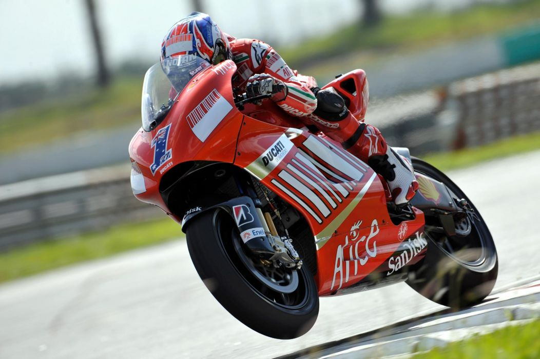 2008 Ducati Desmosedici GP8 wheelie wallpaper