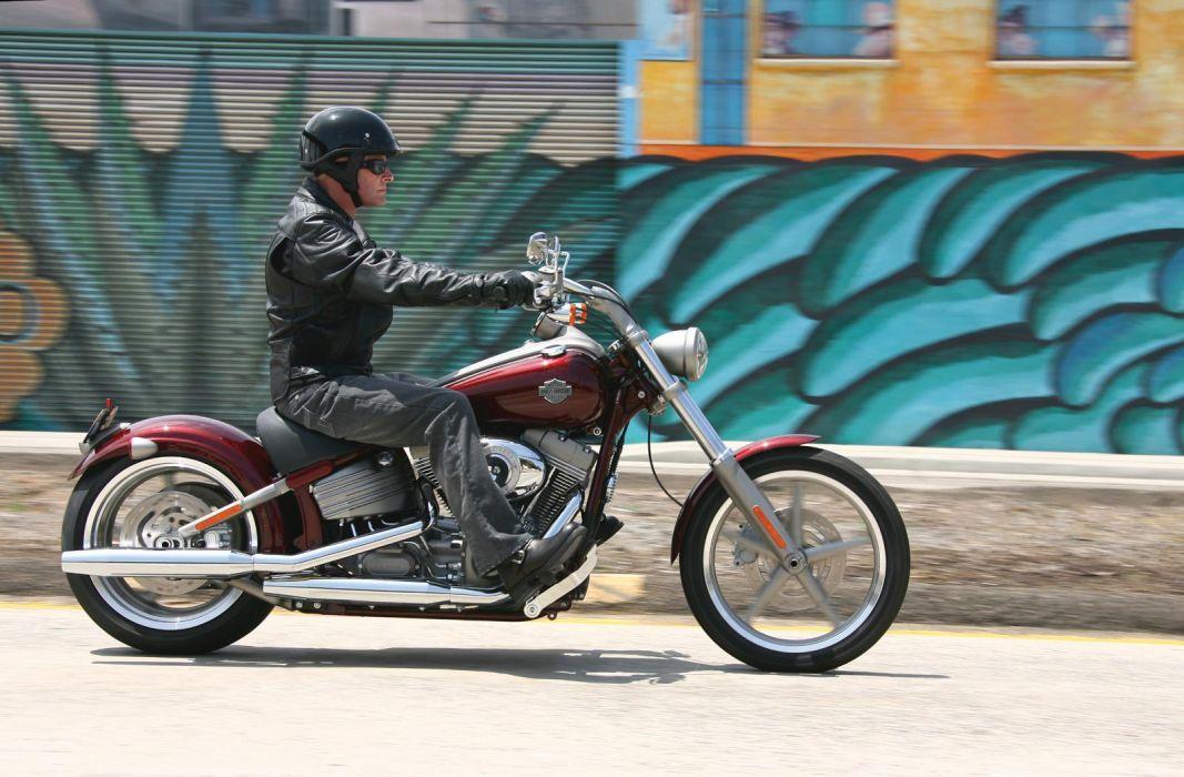 2008 Harley Davidson FXCW Rocker  f wallpaper