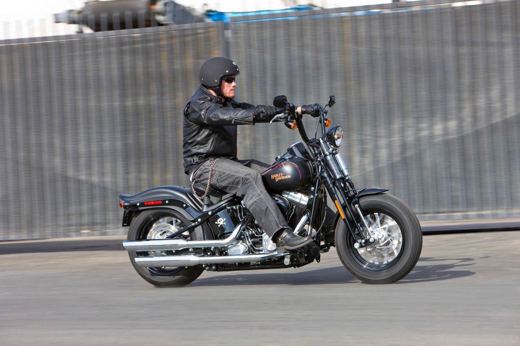 2009 Harley Davidson FLSTSB Softail Cross Bones   f wallpaper