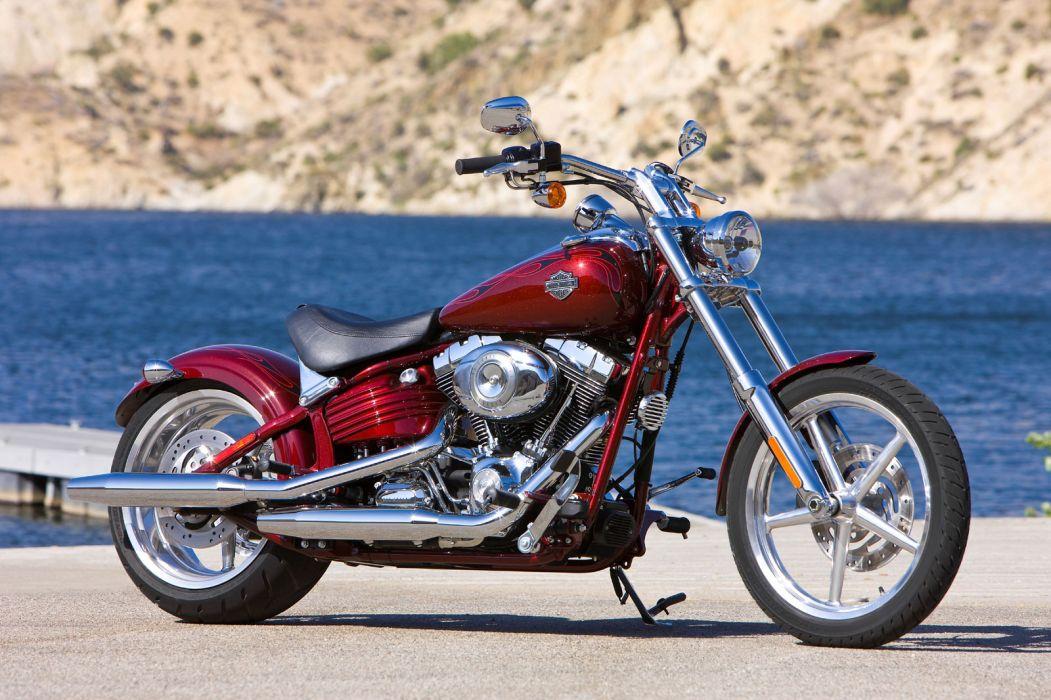 2009 Harley Davidson FXCWC Softail Rocker C  d wallpaper