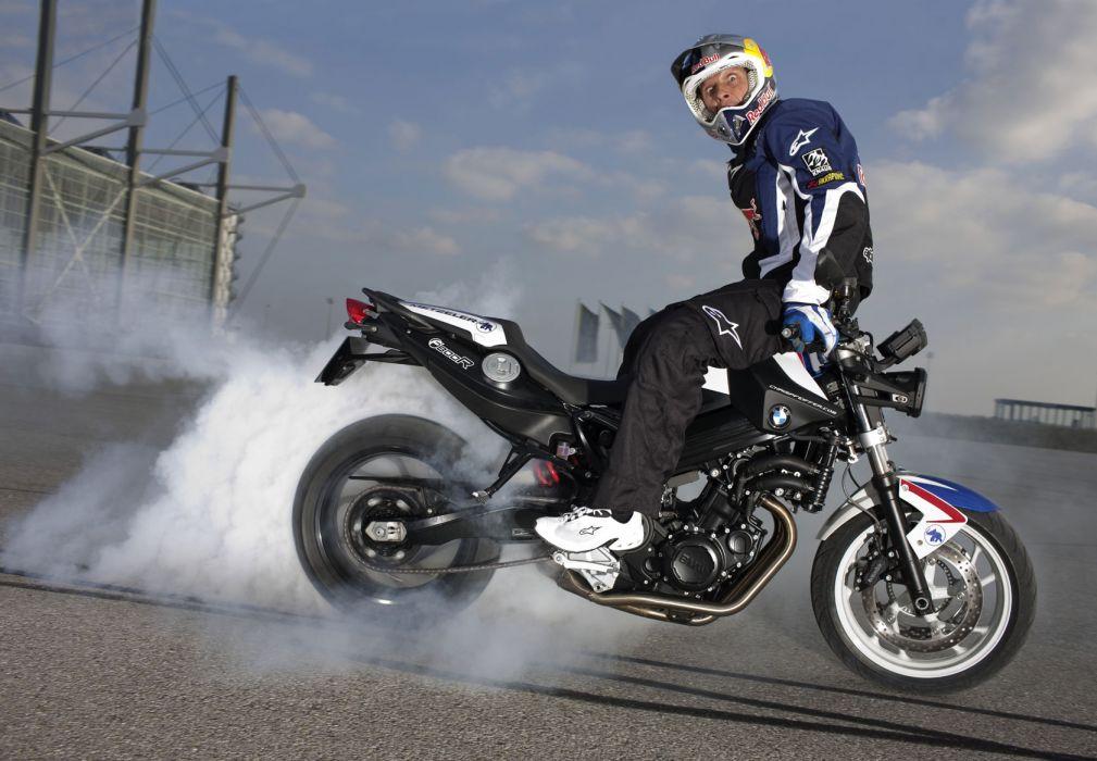 2010 BMW F800R Chris Pfeiffer Edition burnout smoke wallpaper