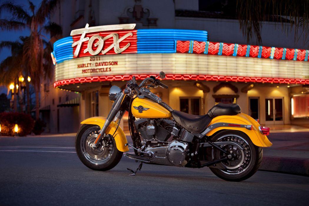 2011 Harley Davidson FLSTF Fat Boy wallpaper