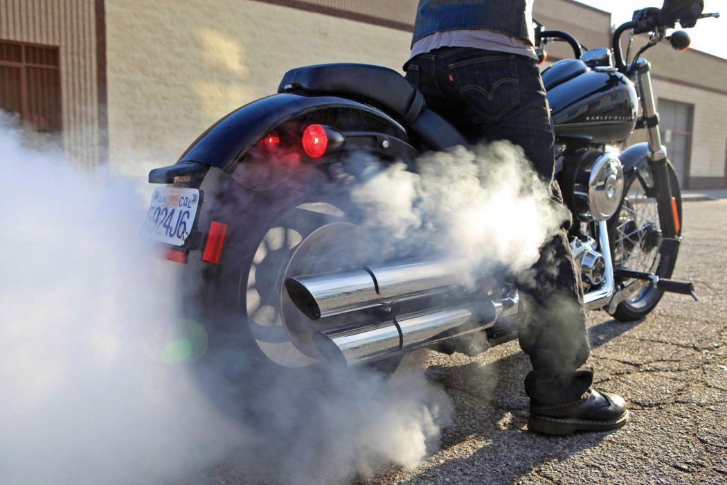 2011 Harley Davidson FXS Blackline smoke burnout wheel wheels wallpaper