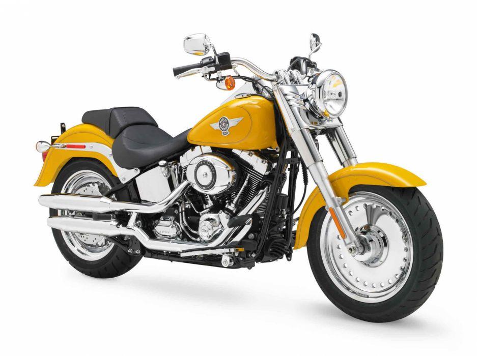 2012 Harley Davidson FLSTF Softail Fat Boy wallpaper