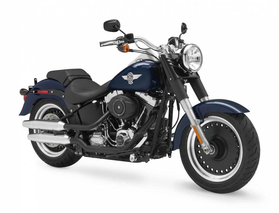 2012 Harley Davidson FLSTFB Softail Fat Boy wallpaper