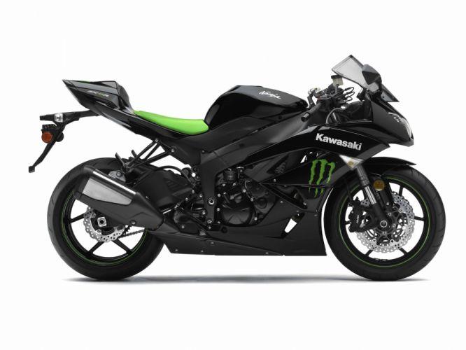 2009 Kawasaki Ninja ZX-6R Monster Energy h wallpaper