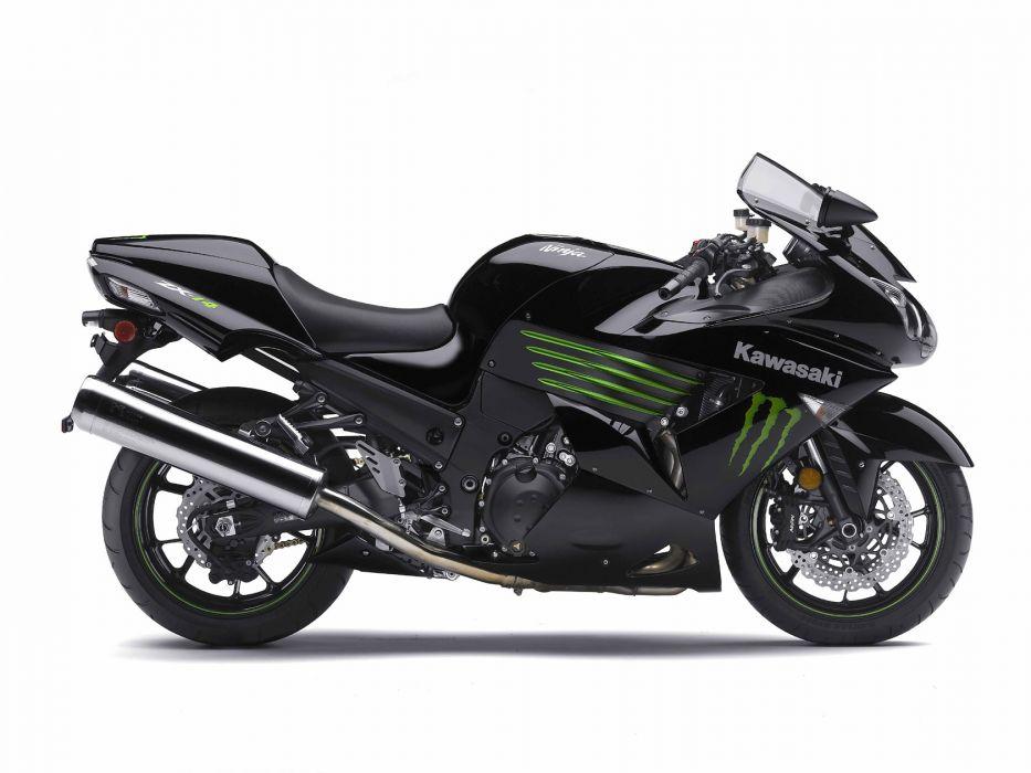 2009 Kawasaki Ninja ZX-14 Monster Energy wallpaper