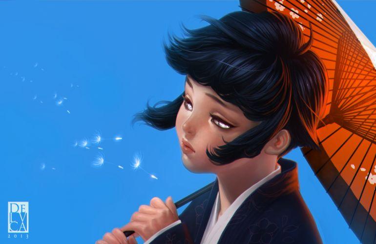 NARUTO Hyuuga Hinata umbrella mood wallpaper