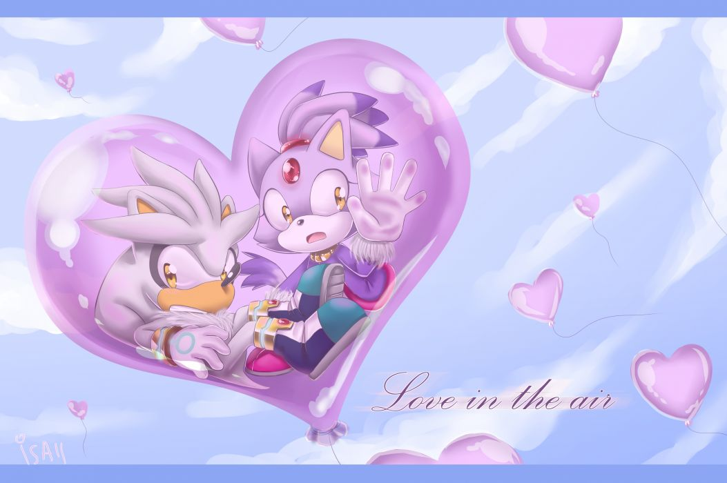 Sonic the Hedgehog heart hearts love wallpaper