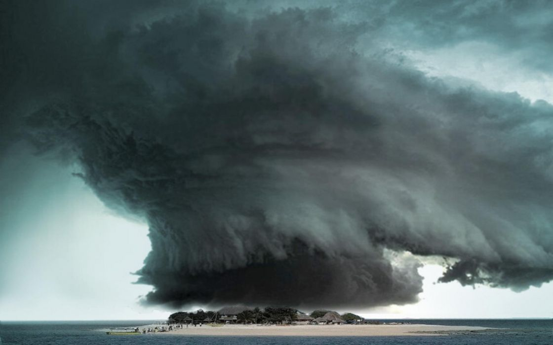 tornado storm sky clouds     g wallpaper