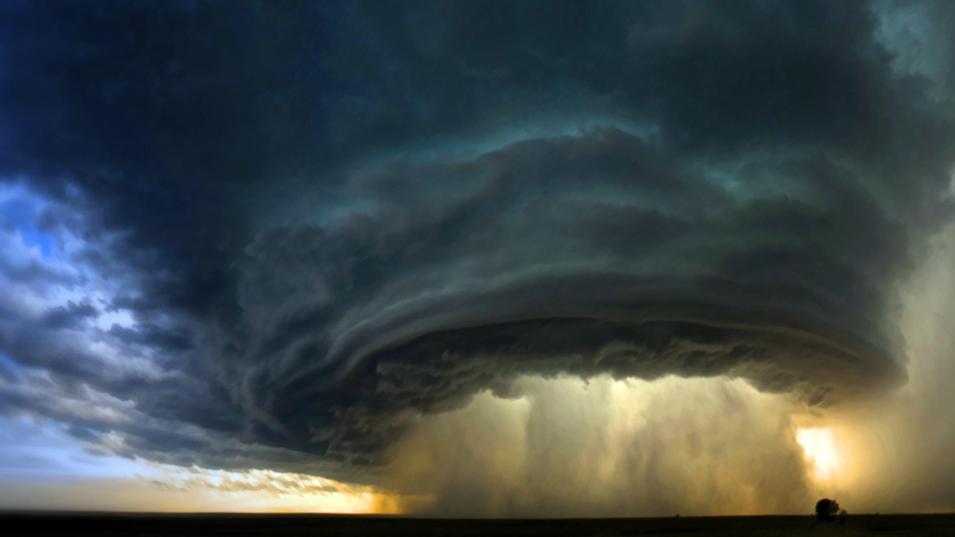 Tornado storm sky clouds d wallpaper | 1920x1080 | 91171 ...