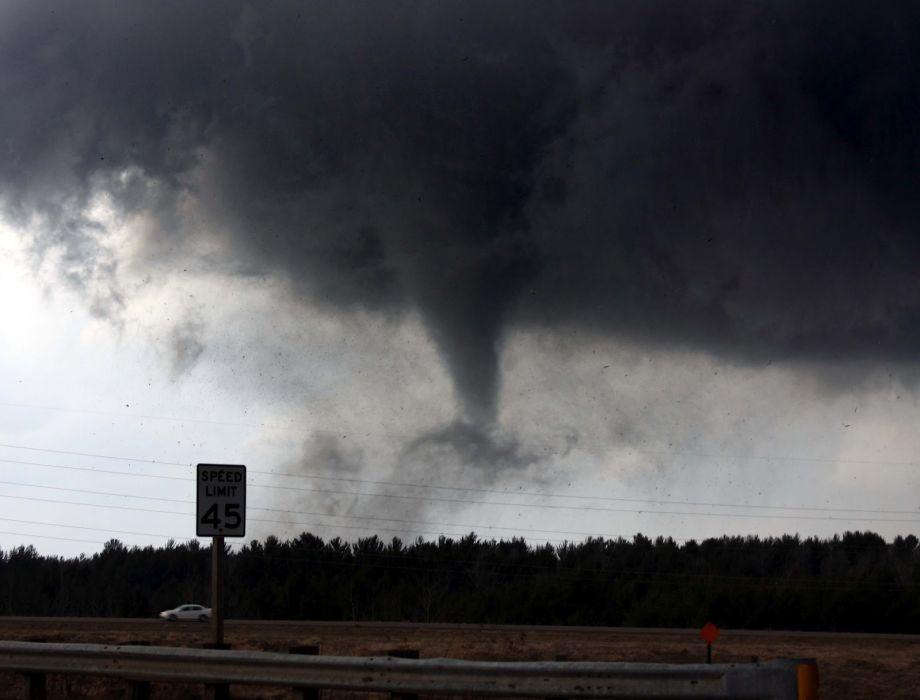 tornado storm sky clouds   a wallpaper