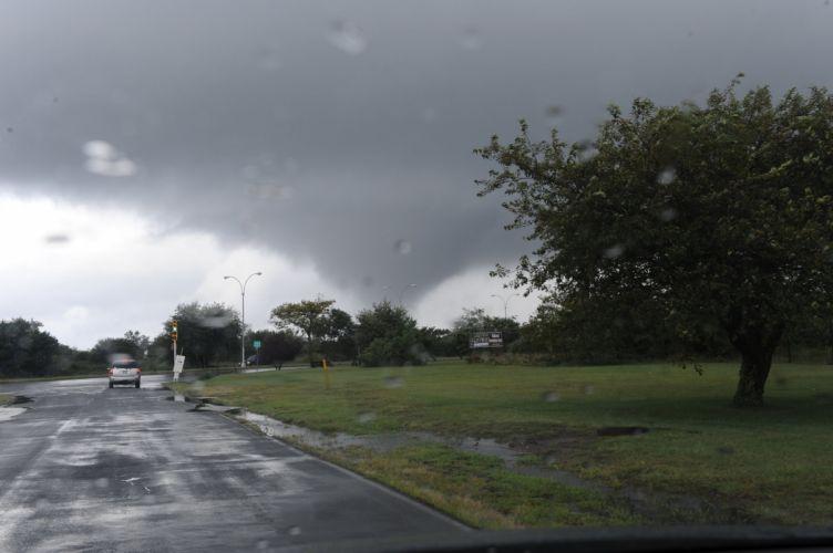 tornado storm sky clouds rain drops wallpaper