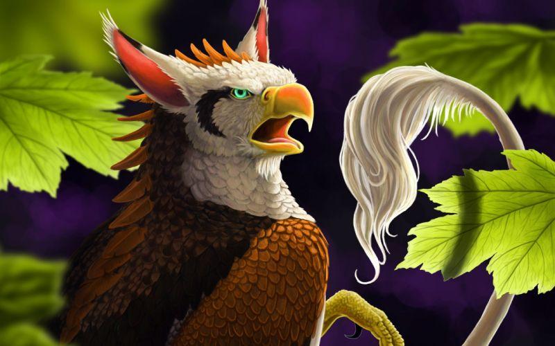 griffin creature birds wallpaper
