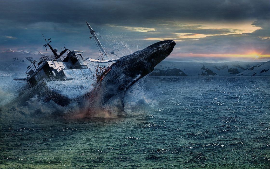 sea ship whales whale ocean shipwreck ship ships boat boats blood dark sad sorrow wallpaper