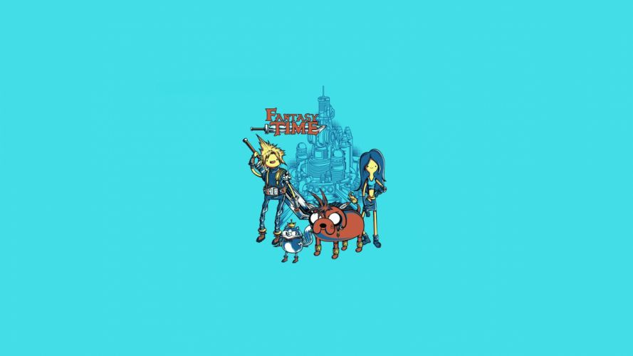 Adventure Time Blue Final Fantasy wallpaper