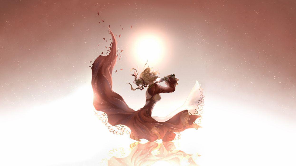 Anime Knife Cry Sad Dress Sunlight mood dark wallpaper