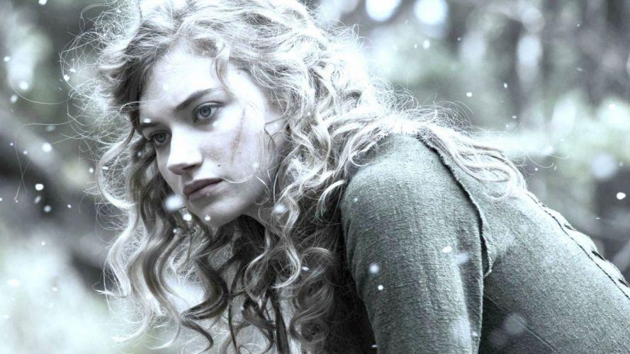 Blonde Snow Winter Imogen Poots wallpaper