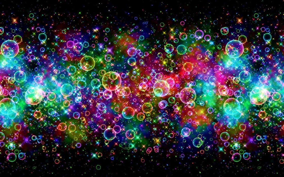 bubble bubbles color psychedelic wallpaper