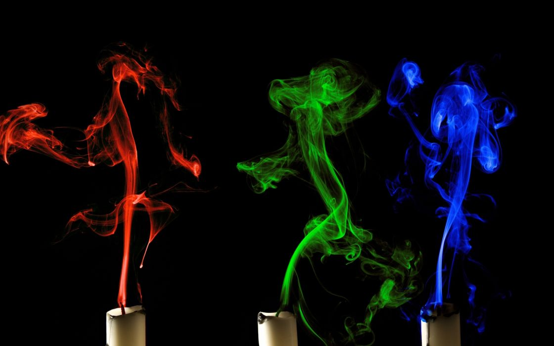 candles abstract 3d smoke candle color wallpaper