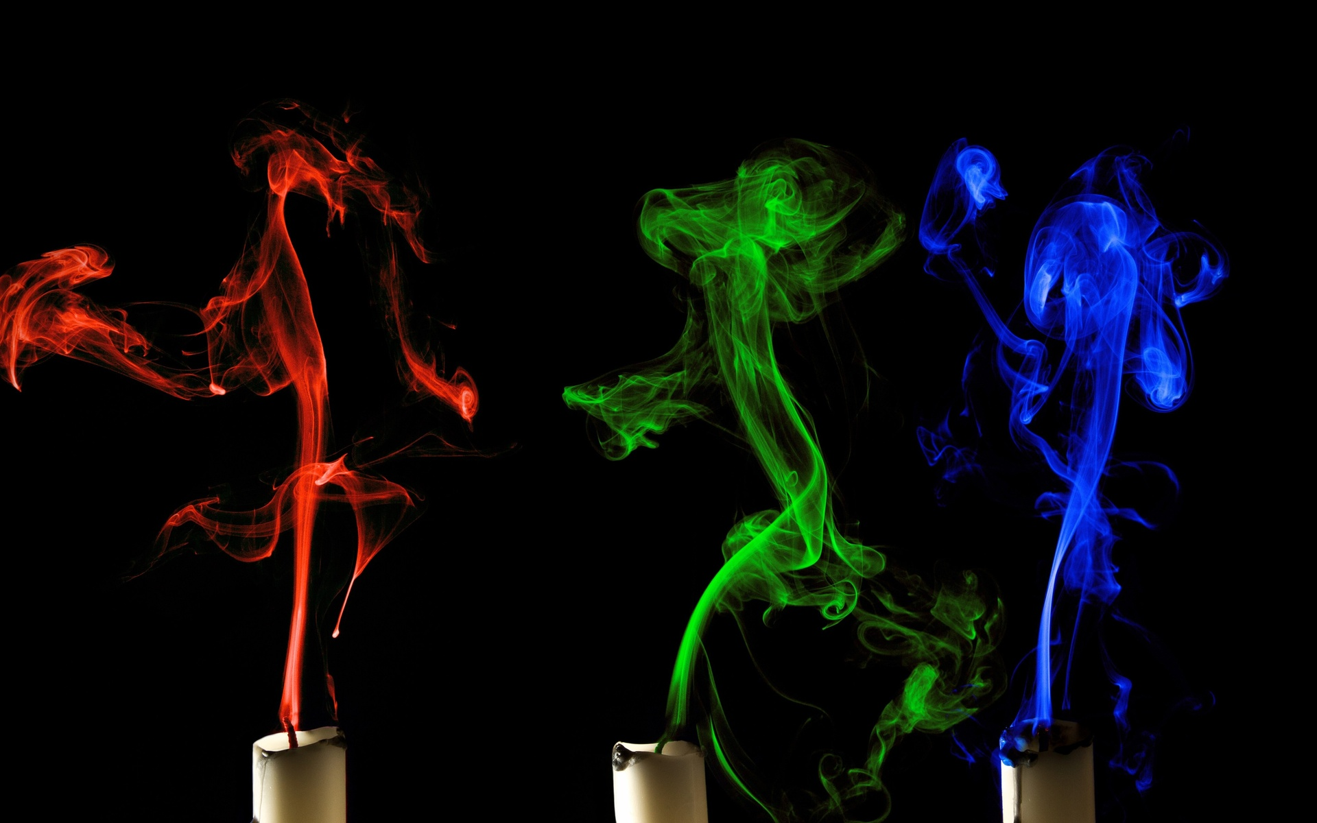 Candles abstract 3d smoke candle color wallpaper | 1920x1200