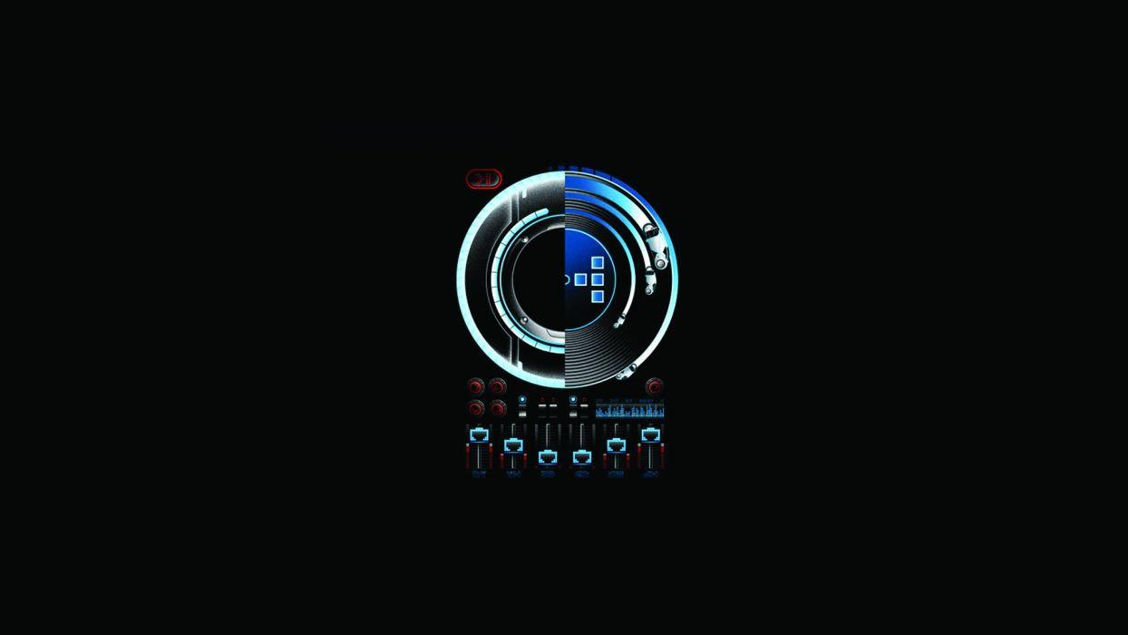Daft Punk Mixer Turntable Black   f wallpaper
