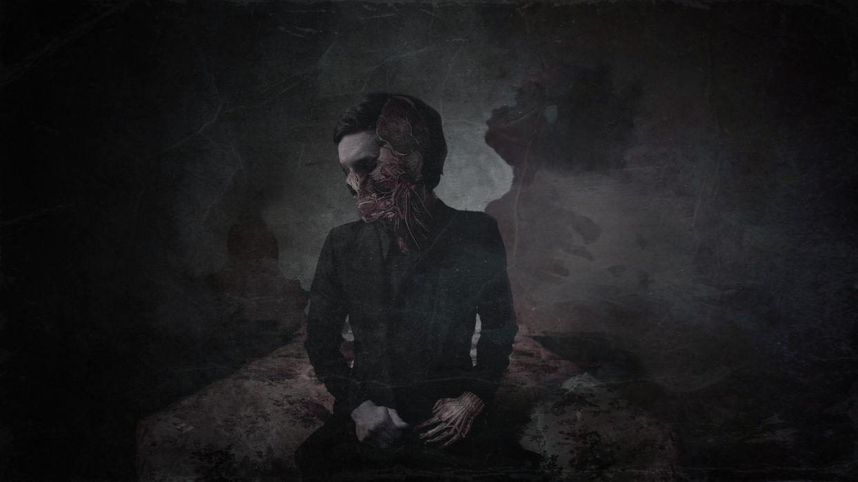 dark skull skulls creepy wallpaper