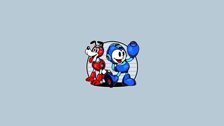 Disney Mickey Pluto Mega Man wallpaper