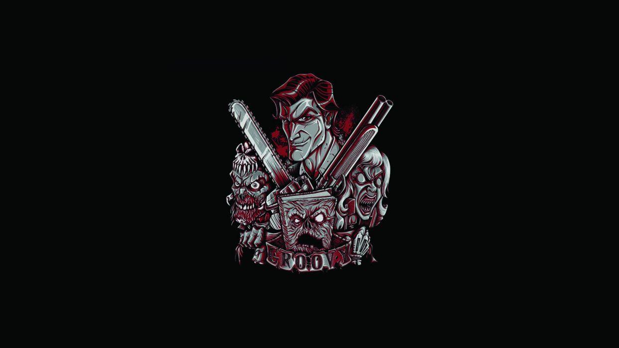 Evil Dead Black Army of Darkness dark zombie wallpaper
