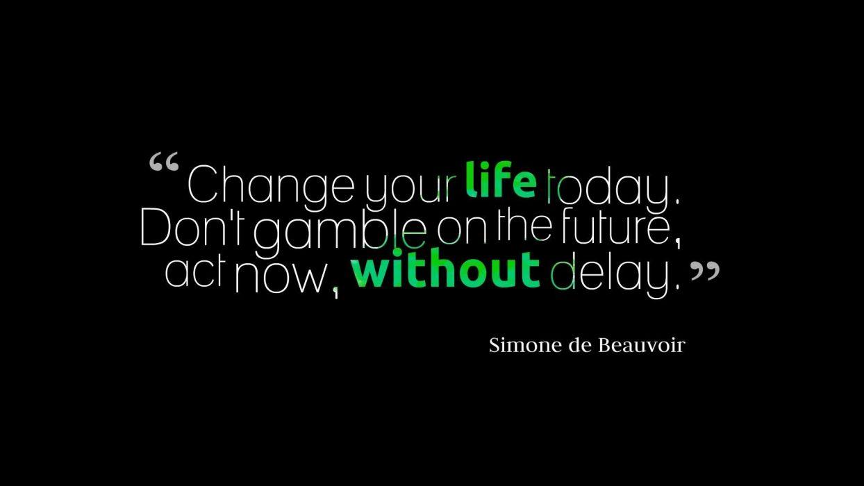 Life Black Change Simone de Beauvoir wallpaper