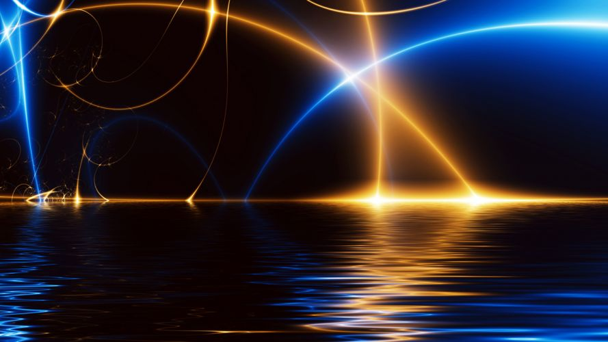 light rays water reflection wallpaper