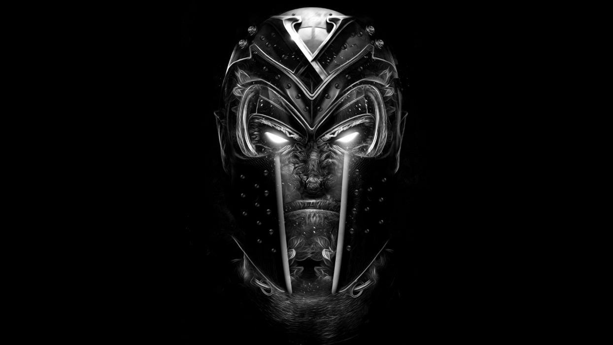 Magneto X-Men Black B-W wallpaper