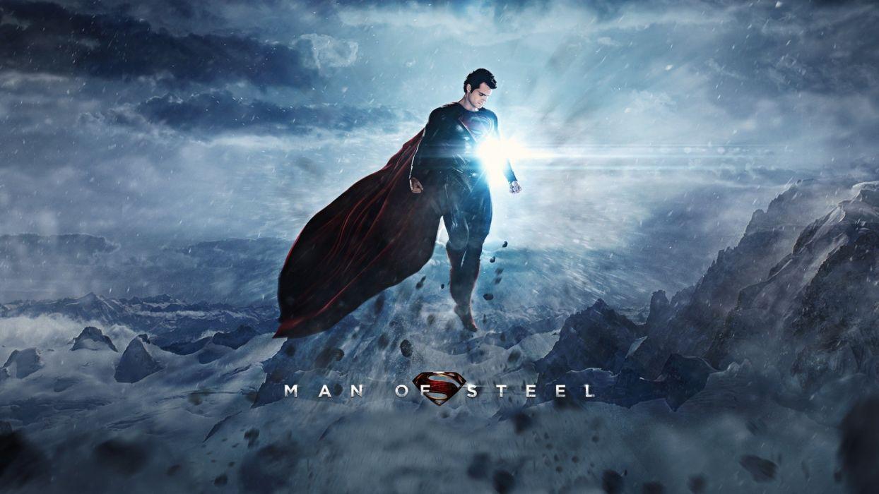 Man of Steel Superman Light Henry Cavill wallpaper