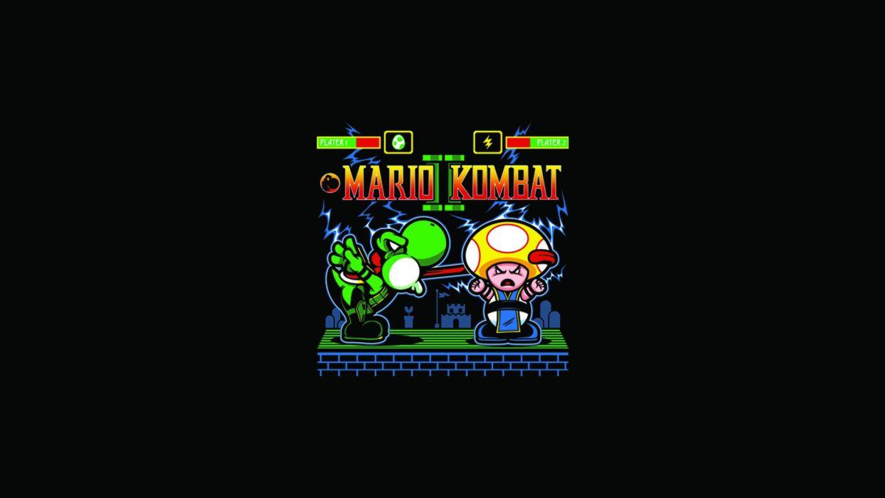 Mario Mortal Kombat Black wallpaper