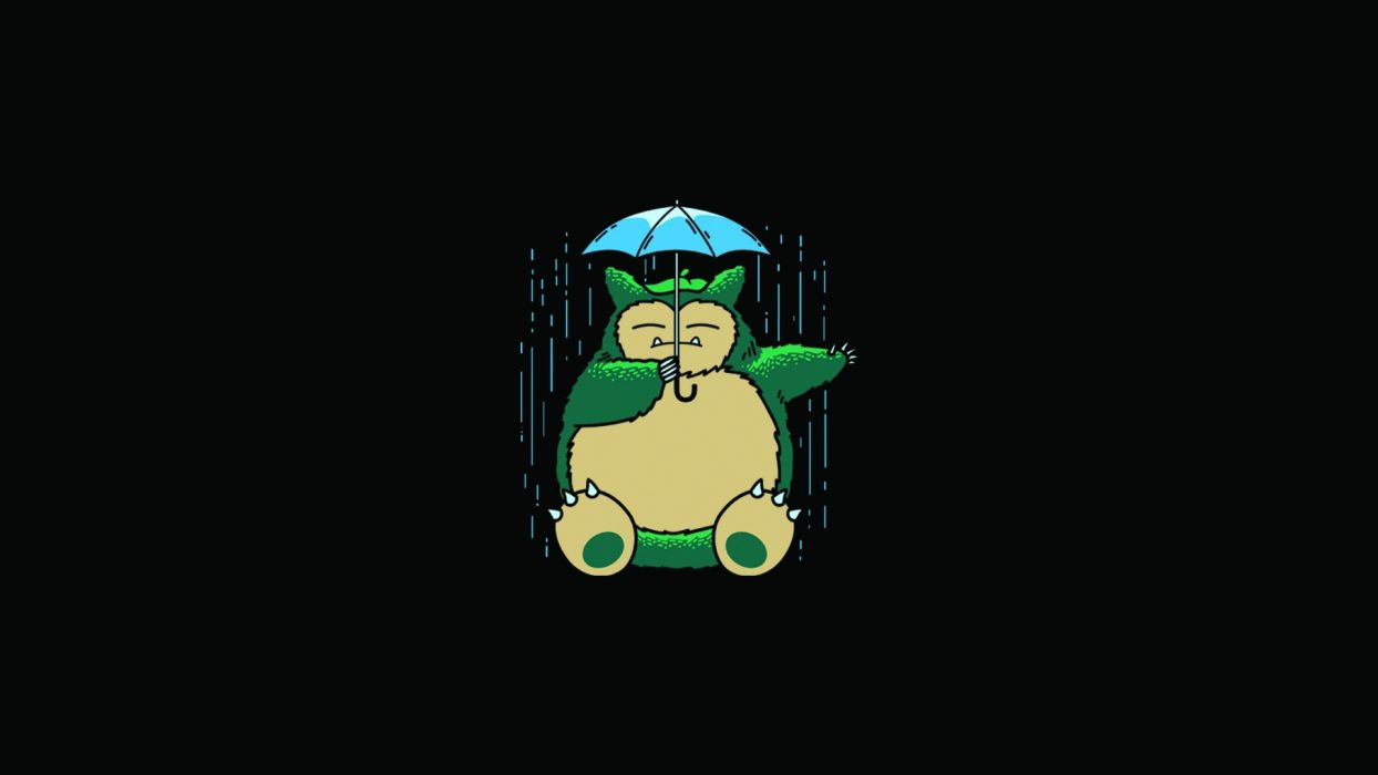My Neighbor Totoro Totoro Anime Umbrella rain wallpaper