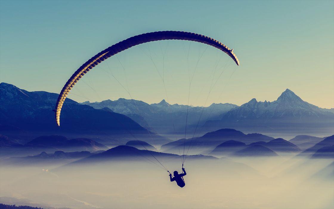 Parachute Mountains Landscape wallpaper