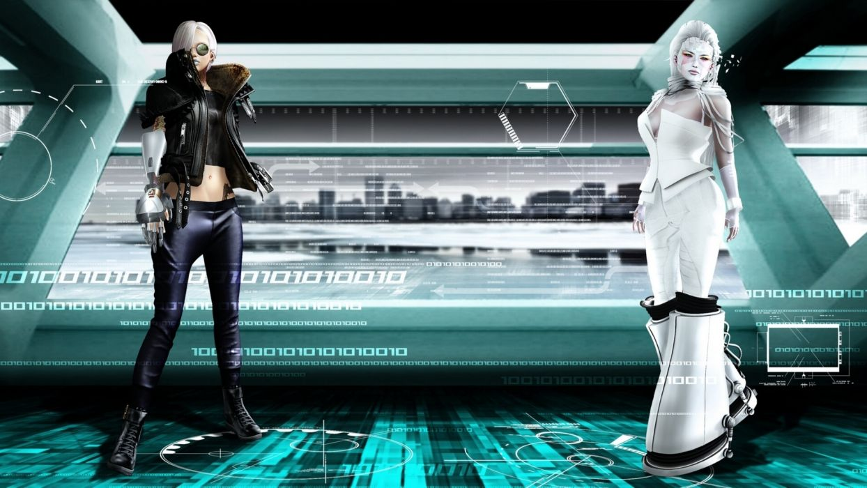 sci-fi binary women girl girls wallpaper