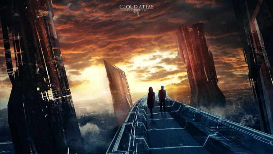 sci-fi futuristic city cities sunset wallpaper