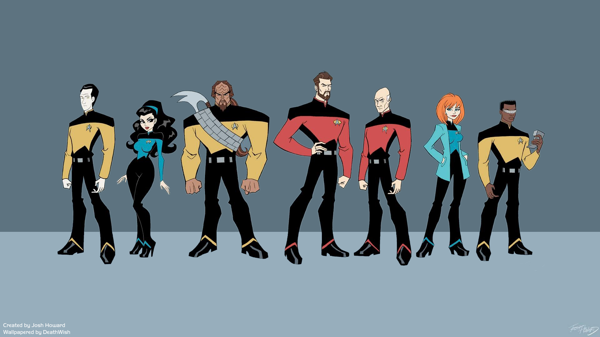Star Trek Drawing The Next Generation Wallpaper 1920x1080