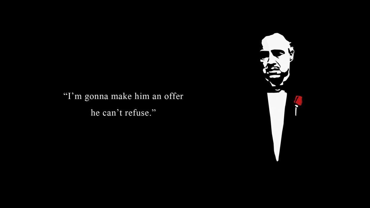 The Godfather Black Offer mafia movie movies wallpaper
