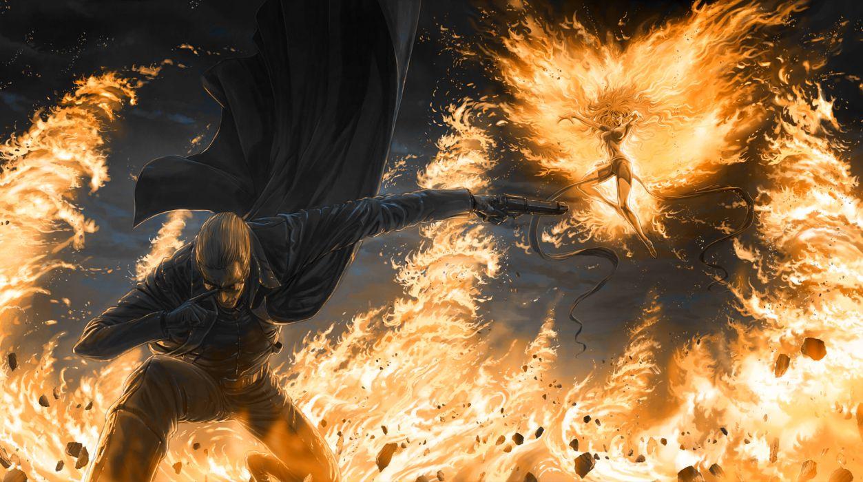 Ultimate Marvel vs Capcom Phoenix Fire wallpaper