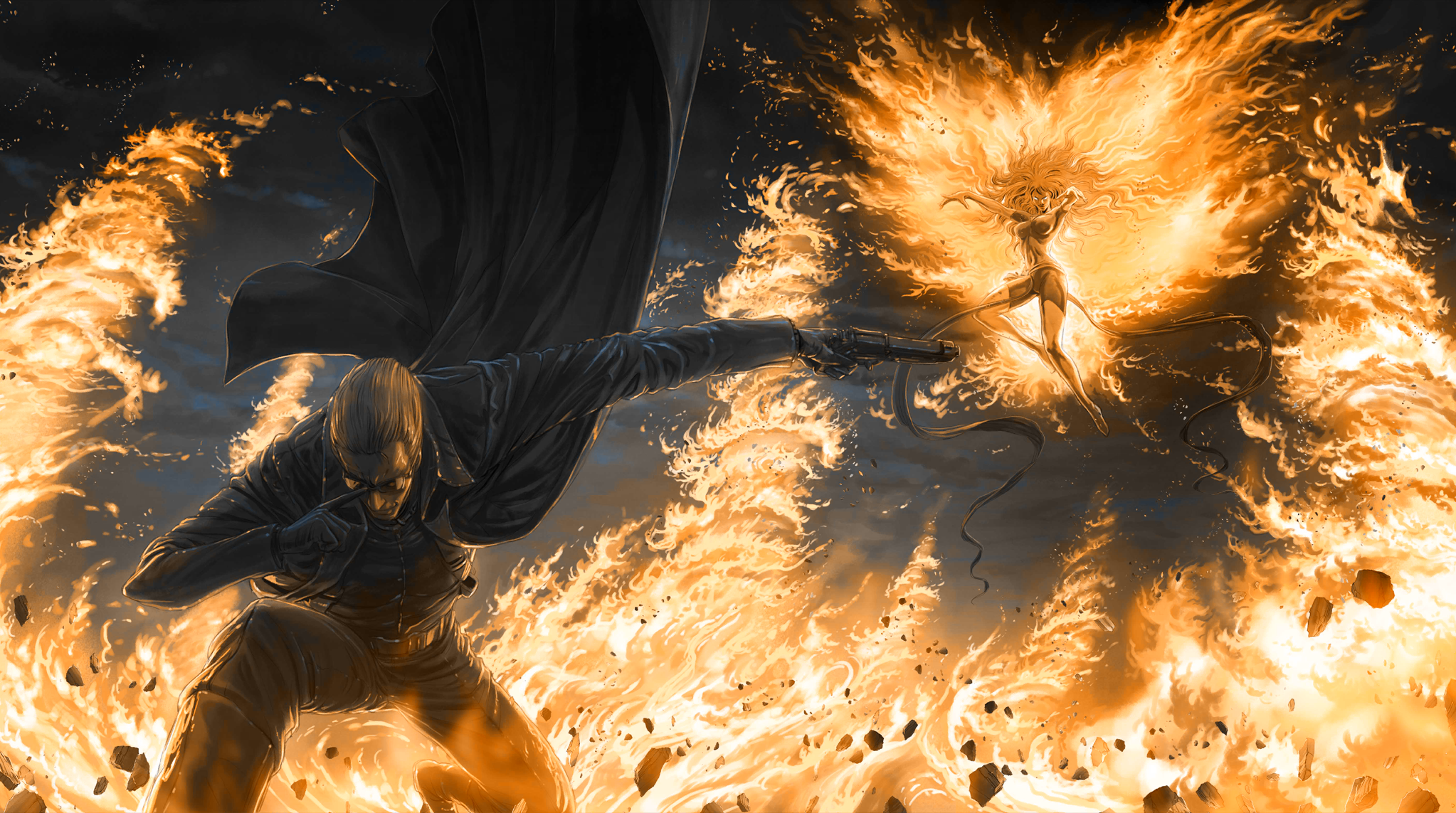 Ultimate Marvel Vs Capcom Phoenix Fire Wallpaper 2046x1143