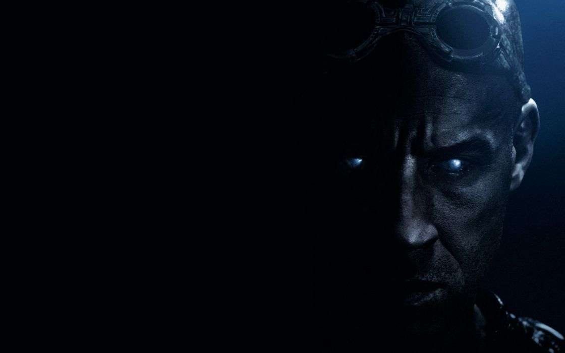 Vin Diesel Riddick Face Black movie sci-fi dark wallpaper