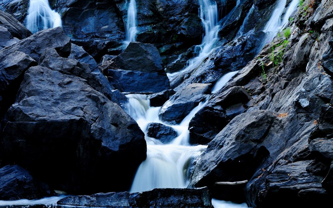 Waterfall Rocks Stones wallpaper