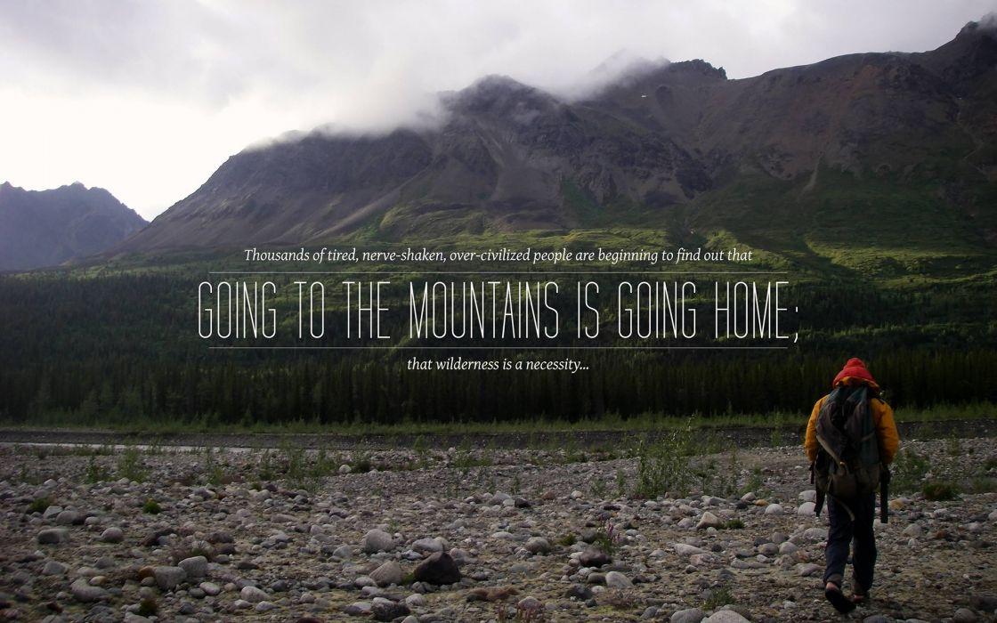 Wilderness Mountains wallpaper