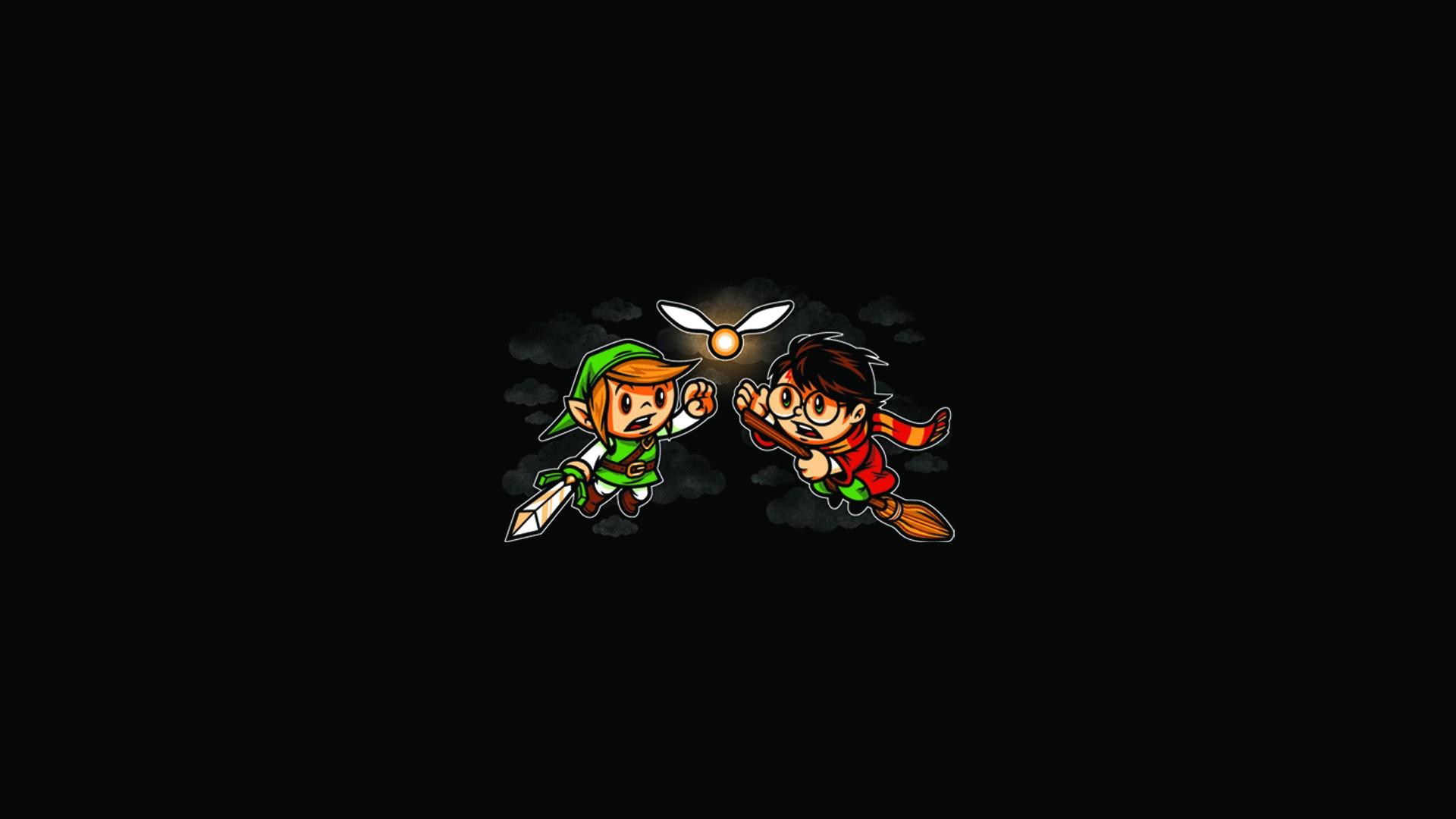 Zelda Link Harry Potter Black Fairy Wallpaper 1920x1080