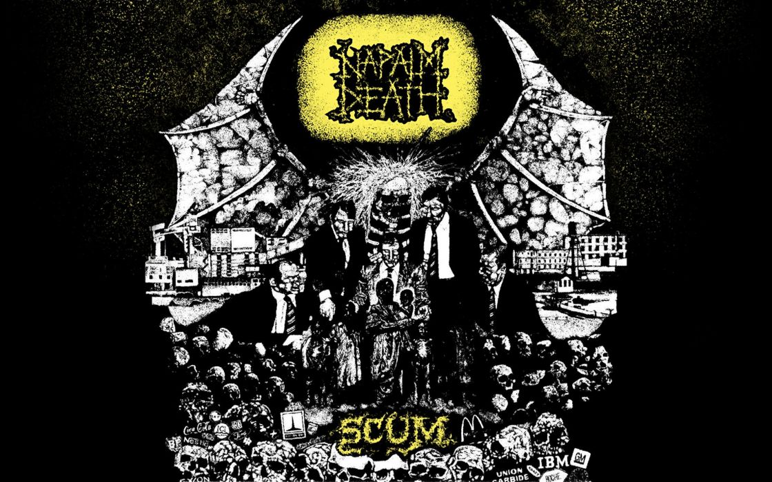 NAPALM DEATH death metal thrash heavy cover  e wallpaper