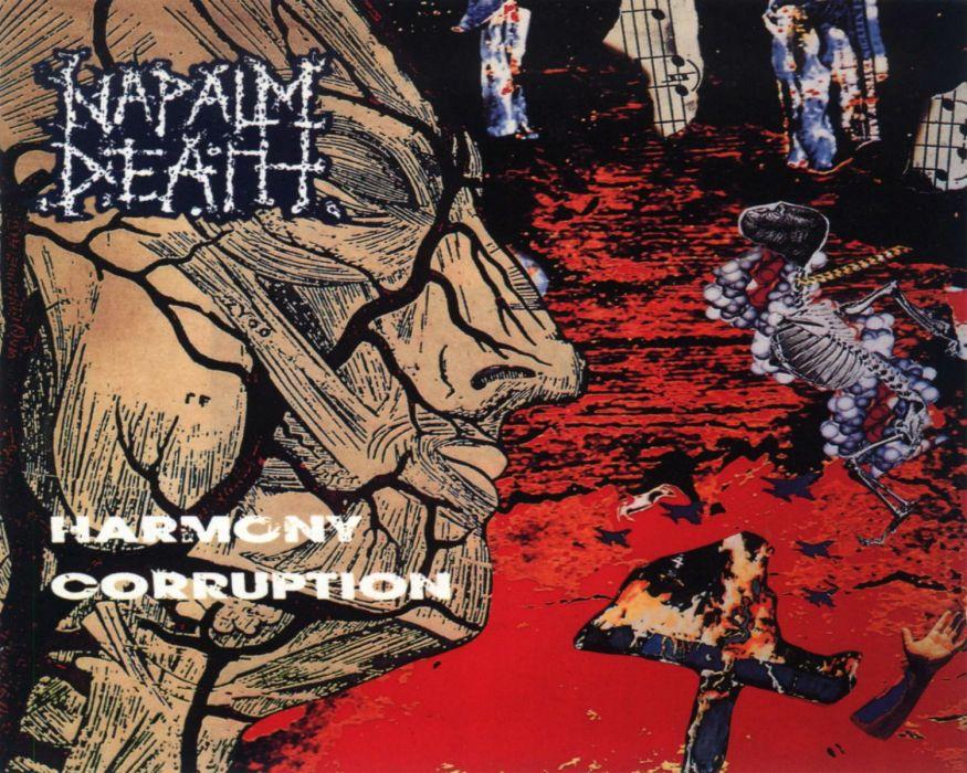 NAPALM DEATH death metal thrash heavy cover  v wallpaper