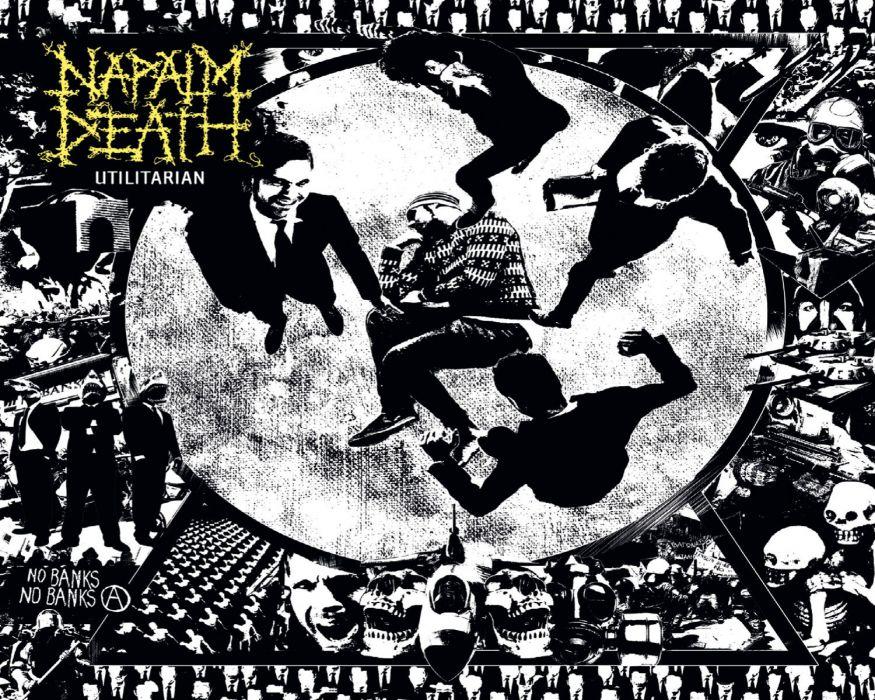 NAPALM DEATH death metal thrash heavy cover wallpaper