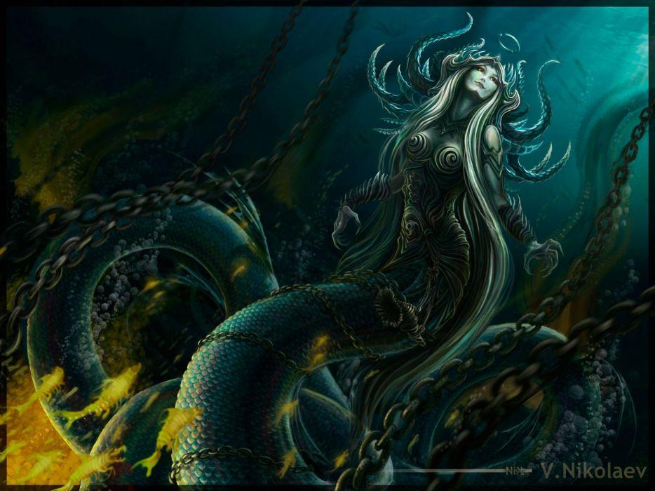 Supernatural beings Tail Fantasy Girls wallpaper